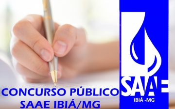 SAAE PUBLICA EDITAL DE CONCURSO PÚBLICO